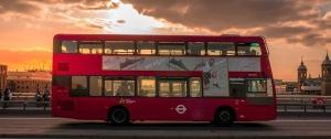 Autobus urbano rosso di Londra