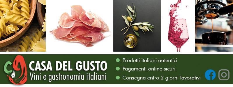 Banner Casa del Gusto - Prodotti italiani Londra - Italiano