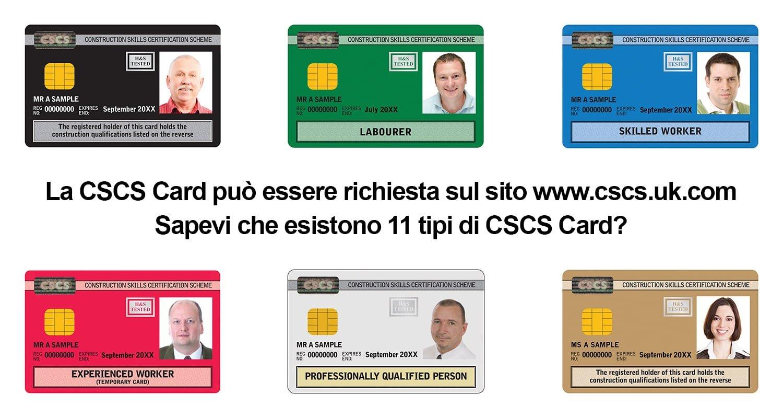 Tipologie di CSCS Card
